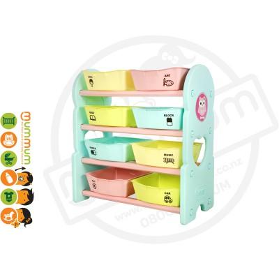 iFam Briring 4 Shelves Toy Orgaizer Mint L76xD36xH84 Made in Korea