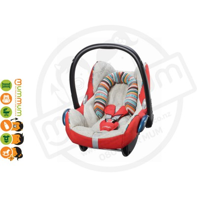 Maxi Cosi Cabriofix Capsule Limited Edition Folkloric Red 0-13kg Cotton Mix Fabric Euro Made