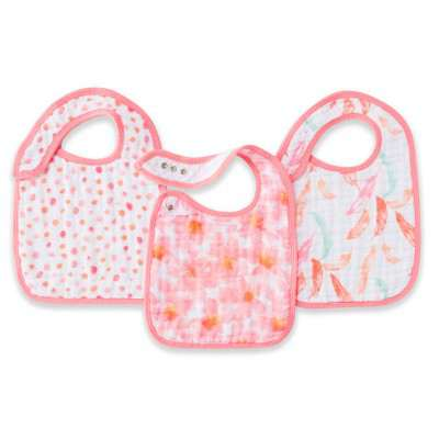 Aden and Anais Snap Bib Petal Bloomers 3pk