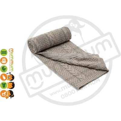 mamas & papas Cable Knit Blanket Millie Boris 70 x 90cm