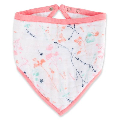 Aden and Anais Bandana Bib petal blooms posy single