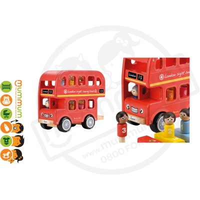 Jamm Wooden Bernies Number Bus 12M+ Gift Box Packed