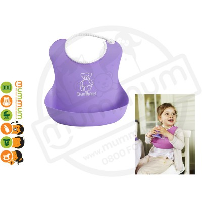 Babybjorn Soft Bib Purple Best Feeding Bib Easy Wash One last Forever