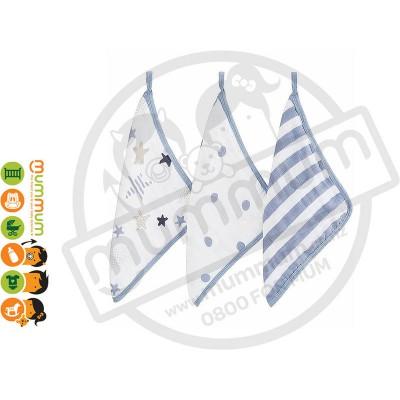 Aden & Anais Washcloth 3pack - Rock Star