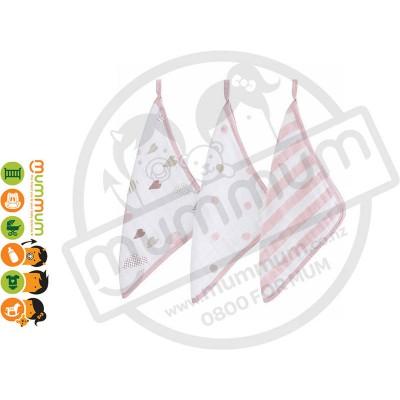 Aden & Anais Washcloth 3pack - Heart Breaker