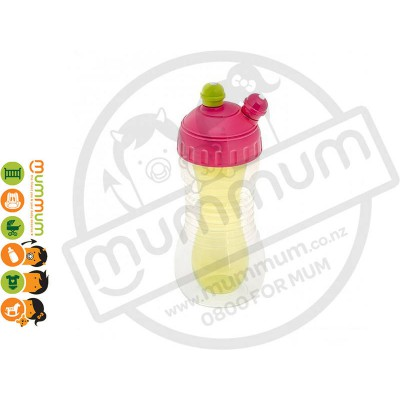 Brothermax 2-Drinks Cooler Sports Bottle with Cap Pink Green