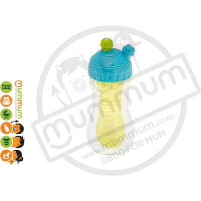 Brothermax 2-Drinks Cooler Sports Bottle with Cap Blue Green