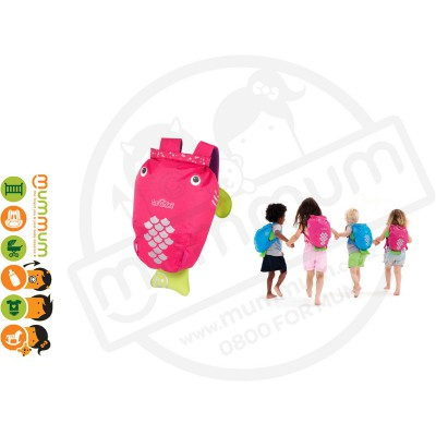 Trunki Paddlepack Pink Water resistant Beach Bag Swim Class Bag
