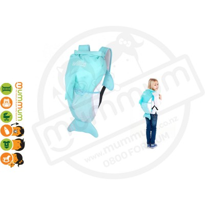 Trunki Paddlepack Dolphin Backpack Swim Bag Water Resistant
