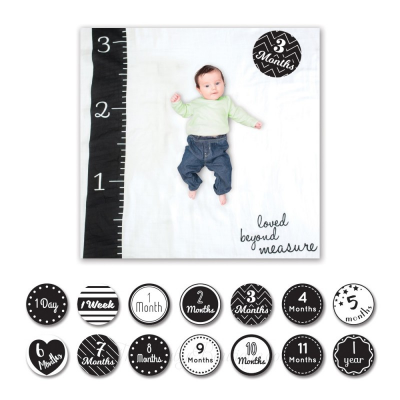Lulujo The First Year Baby Blanket / Card Set Beyond Measure For Baby Photo
