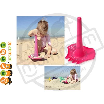 Quut Triplet 4 in 1 Shovel - Pink Beach Toy Sandpit Toy All in 1 Water Play
