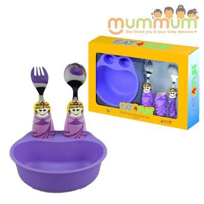 Eat4Fun Duos 3pc Bowl Set - Purple Princess