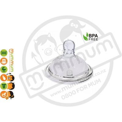 Haakaa Wide Neck Silicon Anti-Colic Nipple S 2pcs