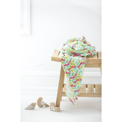 Aden and Anais Muslin Single Swaddle birds of paradise