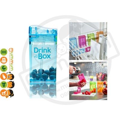 Drink In The Box Small 8oz/235ml Box Bottle - Blue