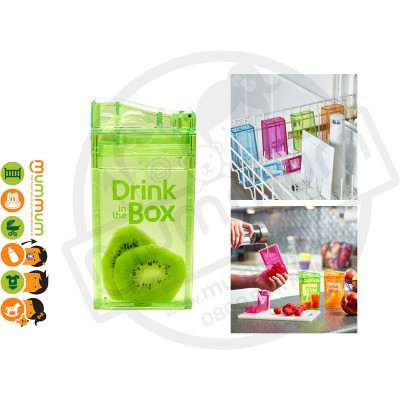 Drink In The Box Small 8oz/235ml Box Bottle - Green