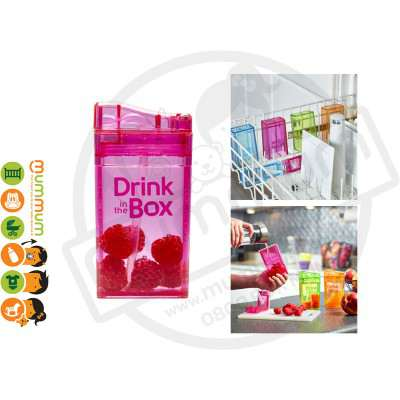 Drink In The Box Small 8oz/235ml Box Bottle - Pink