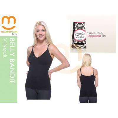 Belly Bandit Mother Tucker Nursing Compression Tank Top, Medium (Black)