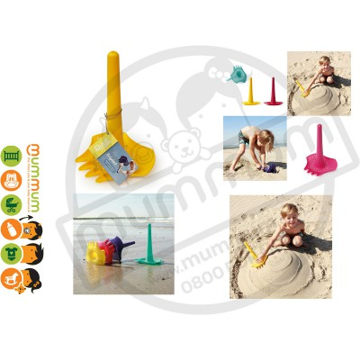 Quut Triplet 4 in 1 Shovel - Yellow Sand Toy Beach Toy all in 1
