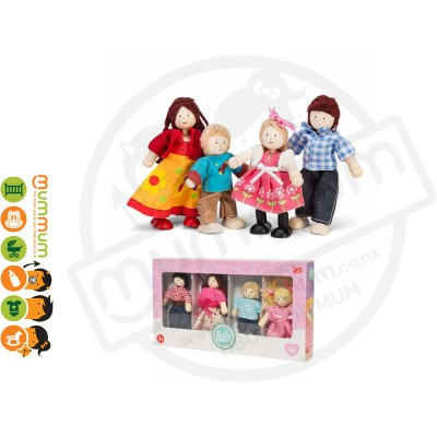 Le Toy Van Daisy Lane Dolly Family 4Pcs