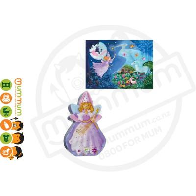 Djeco Silhouette Puzzle - The Fairy & The Unicorn , 36pcs