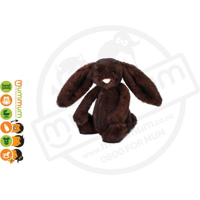 Jellycat Bunny Bashful Walnut Medium