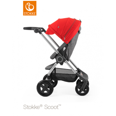 Stokke Scoot V3 Red Canopy Euro Made From NB 0+