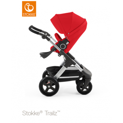 Stokke Trailz All Terrain Pram Euro Made Red