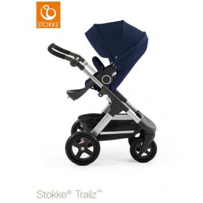 Stokke Trailz All Terrain Pram Euro Made Deep Blue