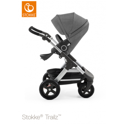 Stokke Trailz All Terrain Pram Euro Made Black Melange