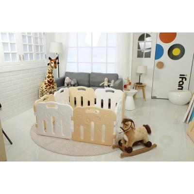 iFam Forrest Baby Room Playpen Beige + White (8PCS) L1.3 x W1.3XH60
