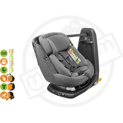 Maxicosi Axissfix Plus Convertible Car Seat SparklingGrey Swivel Birth-4Y IsoFix