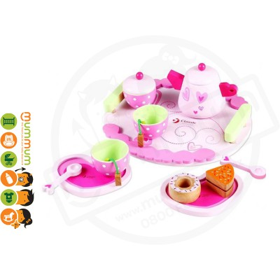 Classic World Wooden Afternoon Tea Set