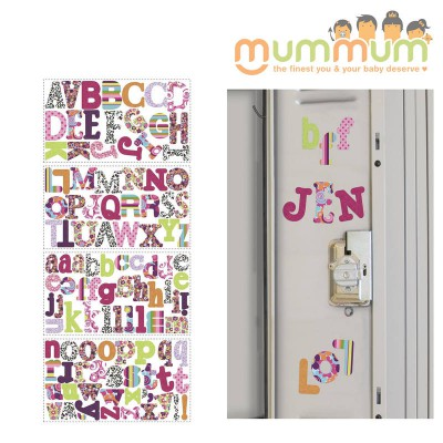 Room Mates Peel and Stick Wall Decals (Patterned Alphabet Wall Decals)