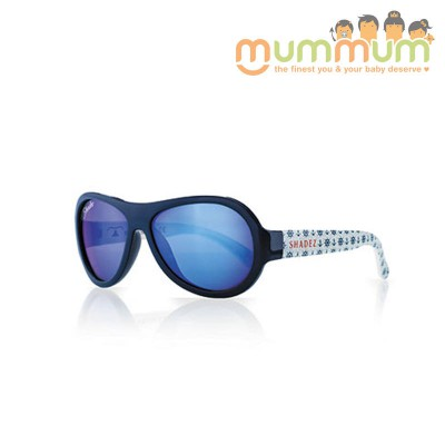 Shadez Junior Anchor Print Blue