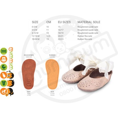 Donsje Angel Shoes Nubuck Powder Organza Laces