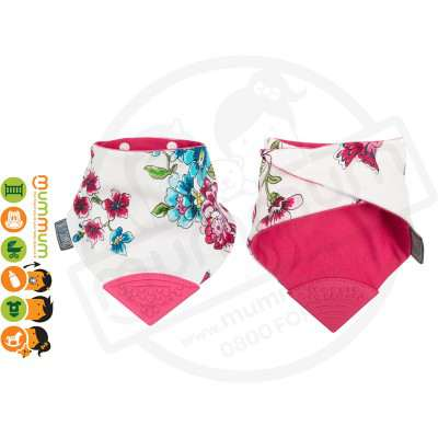 Neckerchew Teething Bib Flower Anna Floral