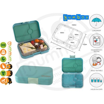 Yumbox 4 compartment Tapas Antibes Blue Lunchbox
