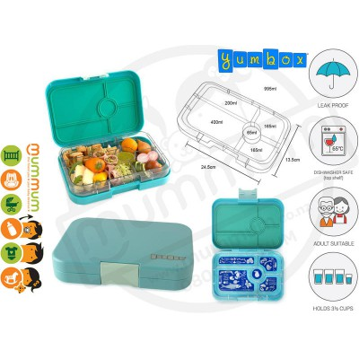 Yumbox 5 compartment Tapas lunchbox Antibes Blue