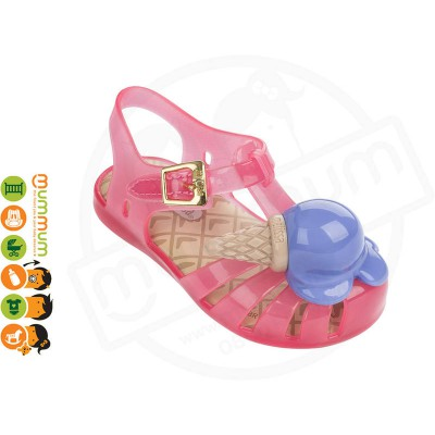 Mini Melissa Aranha X Icecream 31876 Pink Trans