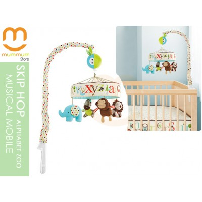 SKIP HOP Musical Crib Soothing Mobile Alphabet Zoo