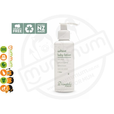 Dimples 100% Natural Organic Baby Body Lotion 150ml