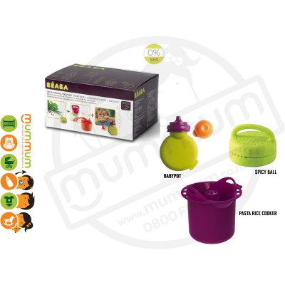 Beaba Babycook Accessory 3pcs Set Spicy Ball + Pasta/Rice Cooker + Babypote