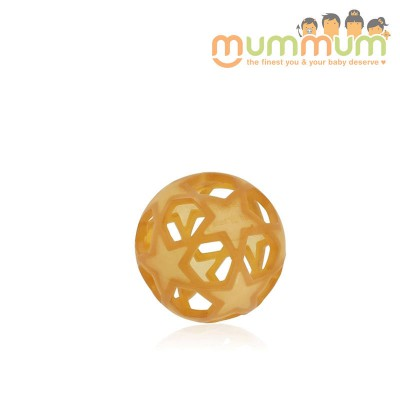 Hevea Star Ball- Natural rubber, teether toy