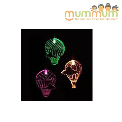 Mobile Hot Air Balloons Color w Changing timer