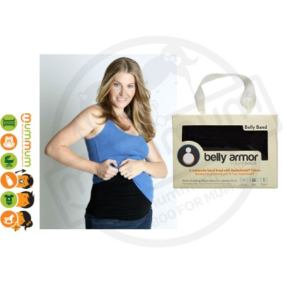 Belly Armor Belly Band with RadiaShield Fabric - Size 2 : M (Black)