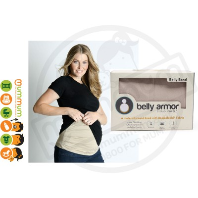 Belly Armor Belly Band with RadiaShield Fabric - Size 2 : M (Nude)