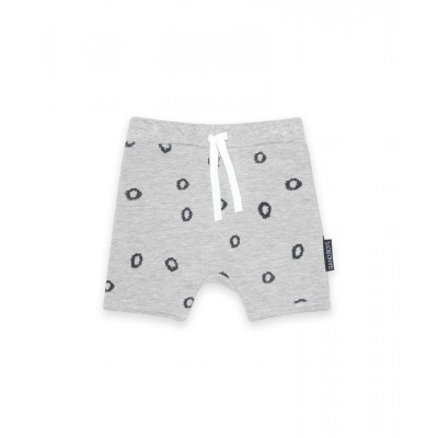 Band of boys organic baby shorts leopard spots marle grey