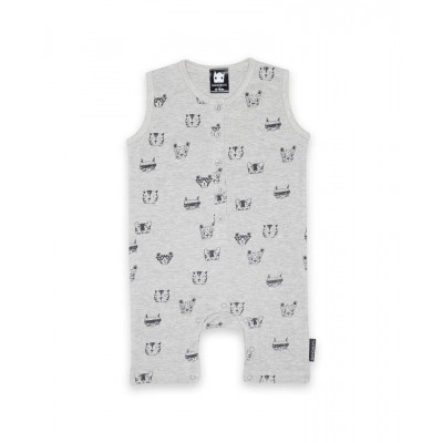 Band of boys organic baby romper a cat for everyone marle grey