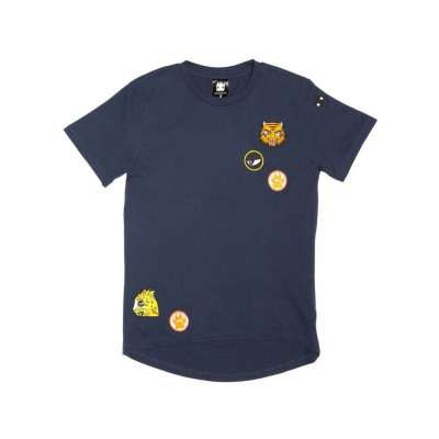 Band of Boys SS Tee cat badges navy